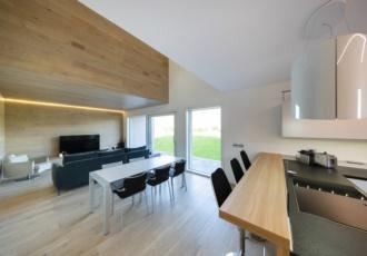 Cucina e soggiorno con led