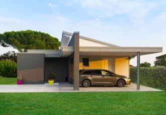 casa in bioedilizia garage scoperto