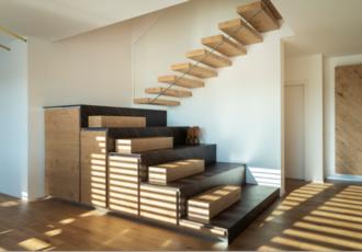 scala su misura in legno