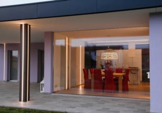 Cucina e luminosa vetrata