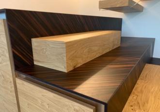 scala legno design bicolore