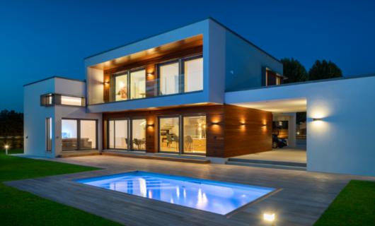 villa di design in legno